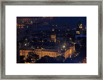 The Parliament Of Quebec Framed Print by Juergen Roth