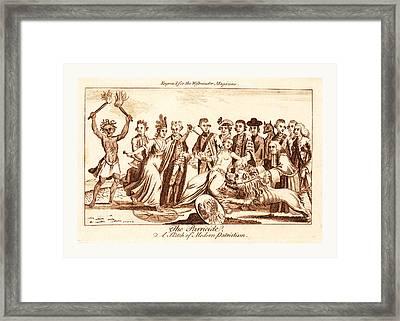 The Parricide A Sketch Of Modern Patriotism, En Sanguine Framed Print by Litz Collection