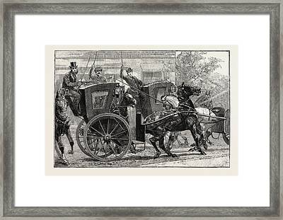 The Parrot And The Cabbies Framed Print by English School