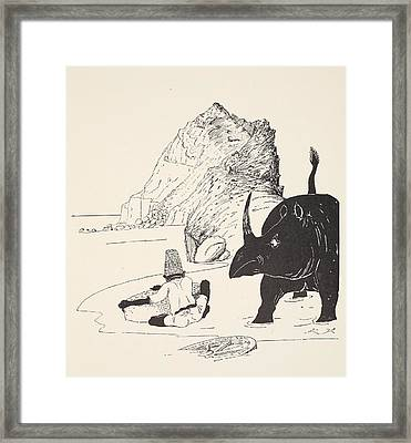 The Parsee Beginning To Eat His Cake Framed Print by Joseph Rudyard Kipling