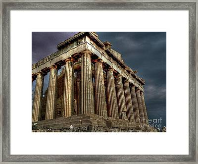 The Parthenon Framed Print by David Bearden