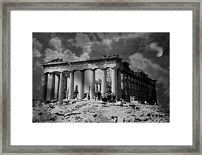The Parthenon Framed Print by Diana Angstadt