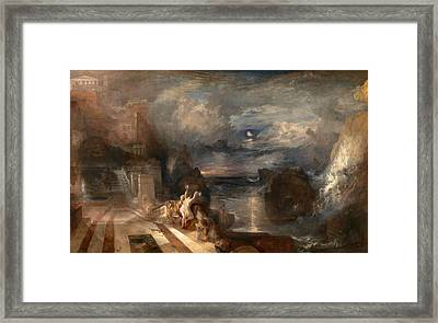 The Parting Of Hero And Leander Framed Print