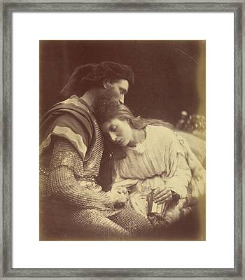 The Parting Of Sir Lancelot And Queen Guinevere Julia Framed Print by Litz Collection