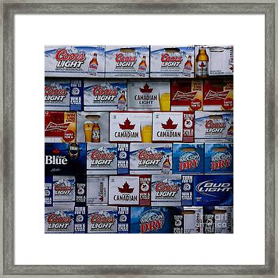 The Party Is Over - Beer Choices - Celebrations Framed Print