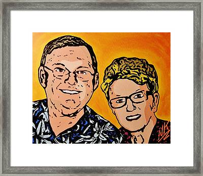 The Party Parents Framed Print by Nevets Killjoy