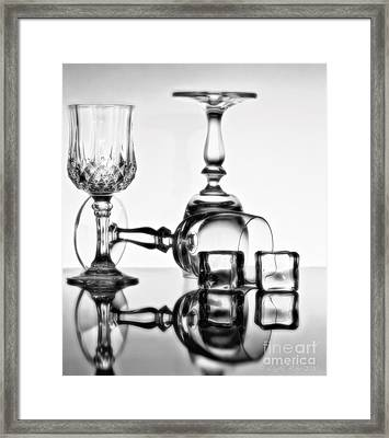 Framed Print featuring the photograph The Party's Over by Linda Blair