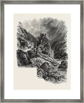 The Pas De Roland Near Cambo, The Pyrenees Framed Print by French School