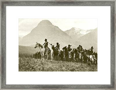 The Pass Finders Gravure Framed Print by Roland Reed