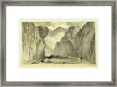 The Pass Of Dariel, Travels In The Trans-caucasian Framed Print by Litz Collection