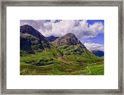 The Pass Of Glencoe Framed Print by Jacqi Elmslie