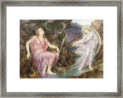 The Passing Of The Soul At Death Framed Print by Evelyn De Morgan