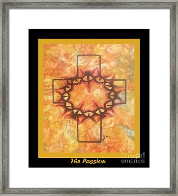 Framed Print featuring the painting The Passion 2 By Saribelle Rodriguez by Saribelle Rodriguez
