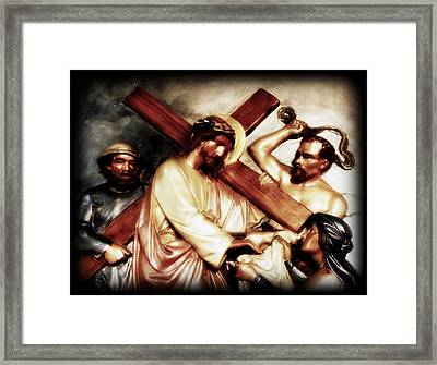 The Passion Of Christ Vii Framed Print by Aurelio Zucco