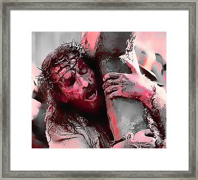 The Passion Of The Christ 'for Our Sins' Framed Print