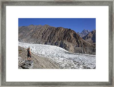 The Passu Glacier And Mountains In Pakistan Framed Print by Robert Preston