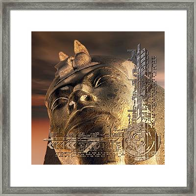 The Past Meets The Presentwart Framed Print by Diuno Ashlee