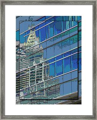 The Past Reflecting On The Present Framed Print by Tim Allen