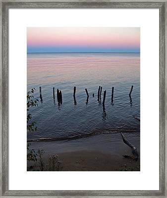 The Pastel Palette Of Whitefish Bay Framed Print