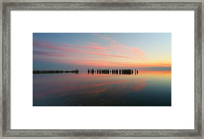 The Pastel Sea - Panorama  Framed Print