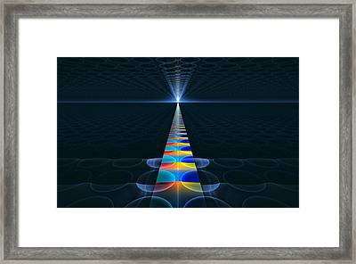 Framed Print featuring the digital art The Path Ahead by GJ Blackman