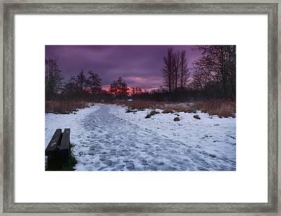 The Path By Dusk Framed Print