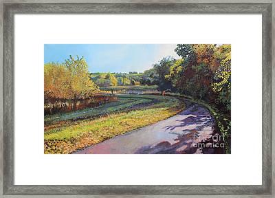 The Path Curves Framed Print