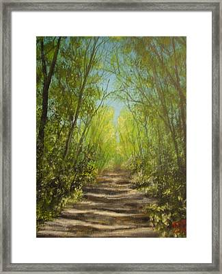 Framed Print featuring the painting The Path by Dan Wagner