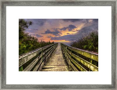 The Path Framed Print by Debra and Dave Vanderlaan
