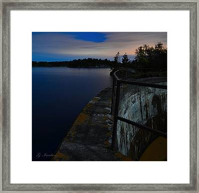 The Path Narrows Framed Print