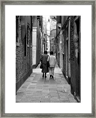 The Path Of Friends Framed Print by Rae Tucker