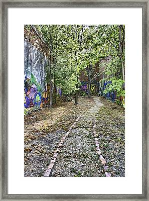 The Path Of Graffiti Framed Print by Jason Politte
