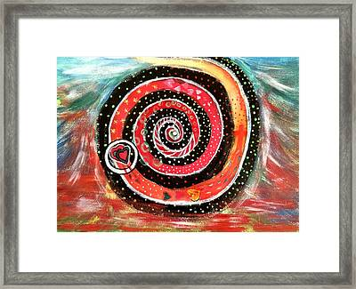 The Path Of Life Framed Print by Sherry Flaker