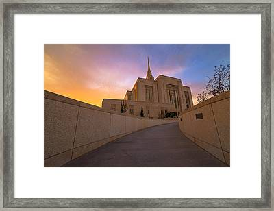 The Path Of Righteousness Framed Print