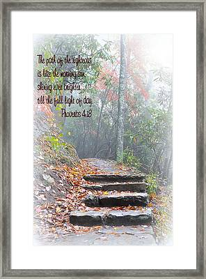 The Path Of The Righteous  Framed Print