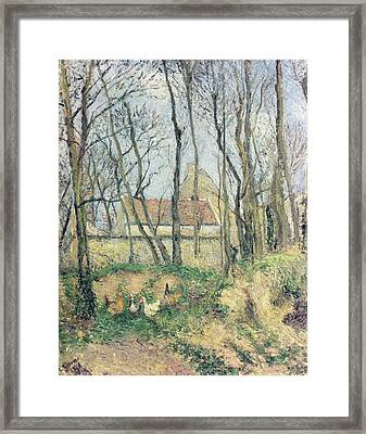 The Path Of The Wretched Framed Print by Camille Pissarro