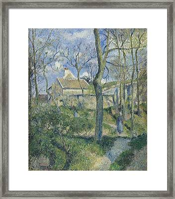 The Path To Les Pouilleux Pontoise Framed Print by Camille Pissarro