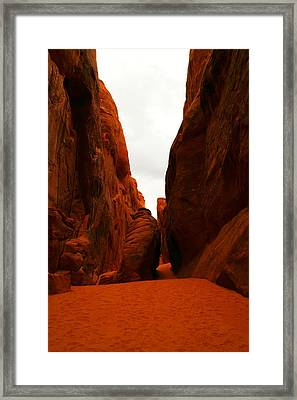The Path To San Dune Falls Framed Print by Jeff Swan