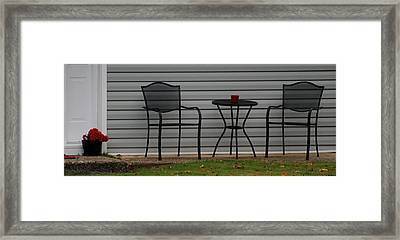 The Patio In Living Color Framed Print by Rob Hans