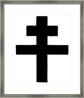 The Patriarchal Cross Framed Print by Granger