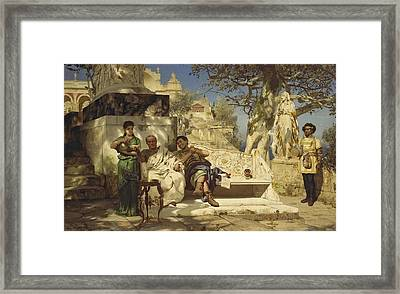 The Patricians Siesta Framed Print
