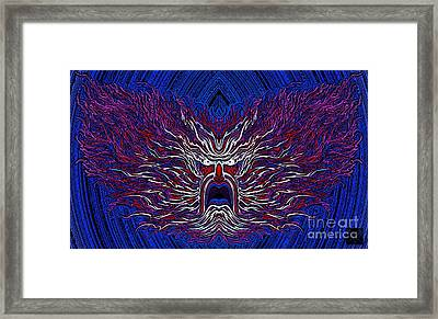 The Patriot Flames-map Framed Print