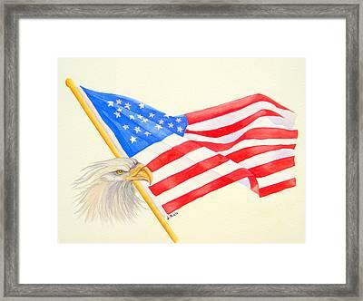 The Patriot Framed Print by Julia Rietz