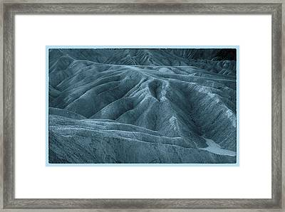The Patterns Blue Framed Print