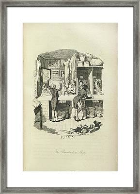 The Pawnbrokers Shop Framed Print by British Library
