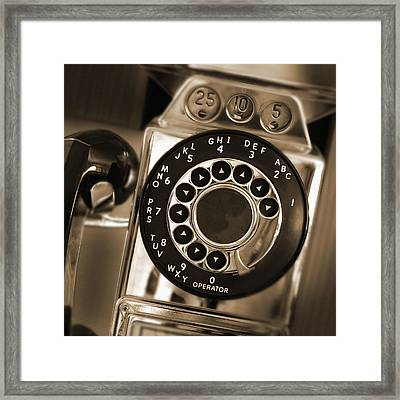 The Pay Telephone Framed Print by Mike McGlothlen