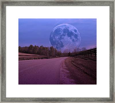 The Peace Moon  Framed Print