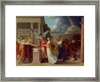 The Peace Of Amiens, 25th March 1802 Oil On Canvas Framed Print