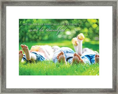 The Peace Of Christ Framed Print