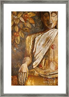 The Peace Of The Buddha Framed Print by Paulina Garoa